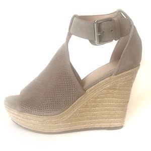 Marc Fisher Alison Suede perforated wedge Sandals